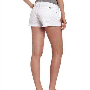 Lucky Brand White Denim Cutoff Riley Shorts